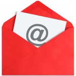 paper with @ in a red envelope