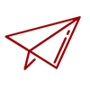 Icon of red paper airplane